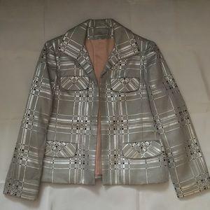 Abe Schrader Dresses - Vintage 60s metallic plaid shift dress jacket set
